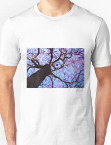 Purple Flower Tree Unisex T-Shirt