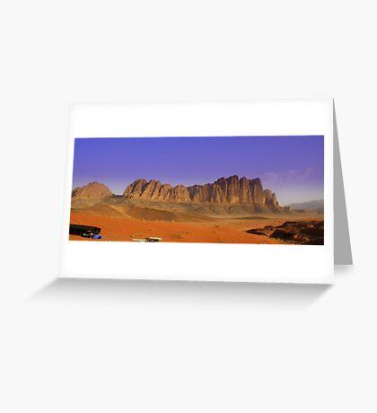 Camp site, Jordan Greeting Card