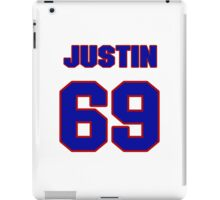 National football player Justin Trattou jersey 69 iPad Case/Skin