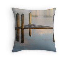 high water reflection Throw Pillow