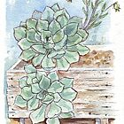 Echeveria imbricata painting 1 by Maree  Clarkson