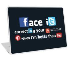 Social Media Snob Laptop Skin