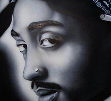 Tupac b&w by Bilistik Art