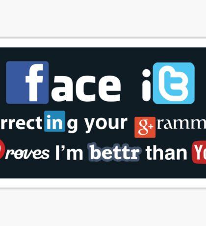 Social Media Snob (Sticker) Sticker