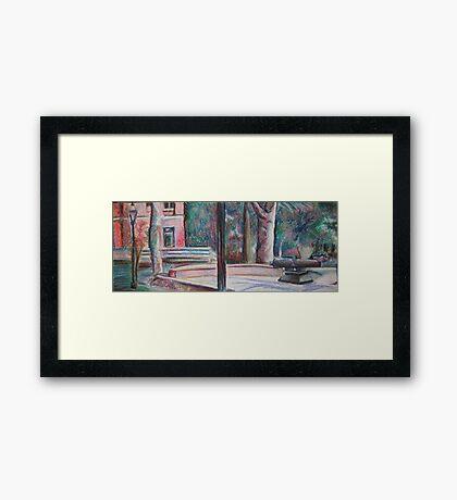 pratt campus in pastels Framed Print
