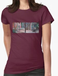 pratt campus in pastels Womens Fitted T-Shirt