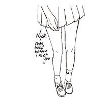 Bright Eyes lyrics tennis skirt girl Photographic Print