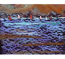 The yatch race Photographic Print