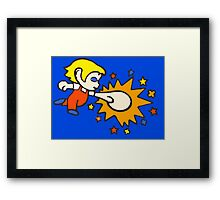 Amazing Alex Kidd punch! Framed Print