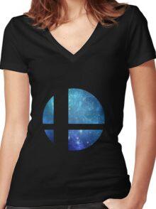 Super Smash Brothers Women's Fitted V-Neck T-Shirt