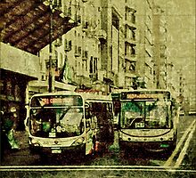 Montevideo Main Avenue Grunge Style Photo by DFLC Prints