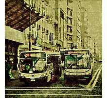 Montevideo Main Avenue Grunge Style Photo Photographic Print