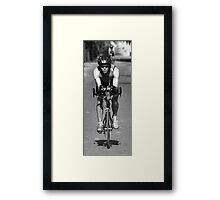 Straight Down The line Framed Print