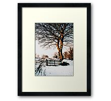Snow and sunshine Framed Print