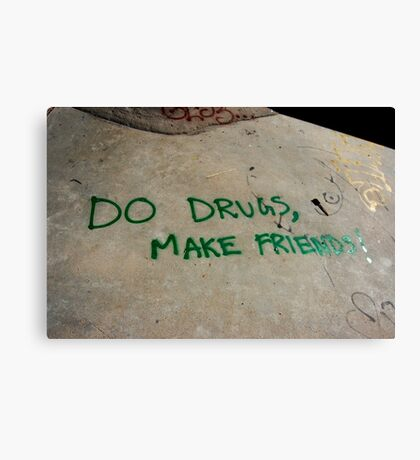 do drugs Canvas Print