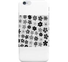 black & white flowers iPhone Case/Skin