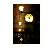 Lonely Clock Art Print