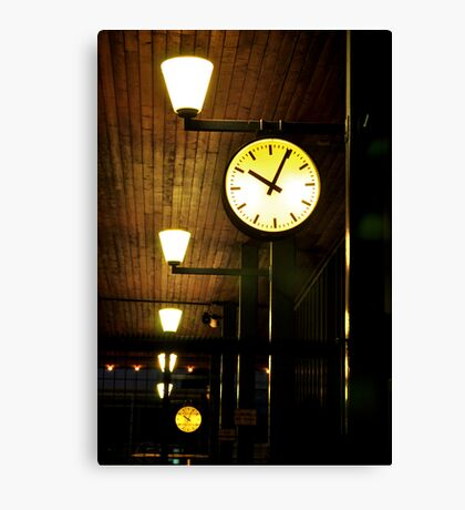 Lonely Clock Canvas Print