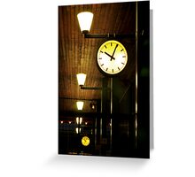 Lonely Clock Greeting Card