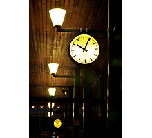 Lonely Clock Photographic Print