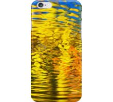 Gold Waves Abstract iPhone Case/Skin
