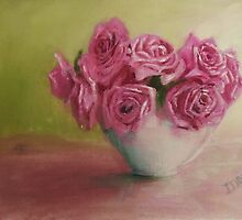 Pink Roses by Jaana Day