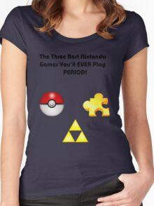 Nintendo's Best Three Games Women's Fitted Scoop T-Shirt