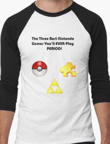 Nintendo's Best Three Games Men's Baseball ¾ T-Shirt