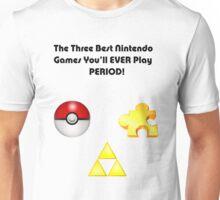 Nintendo's Best Three Games Unisex T-Shirt