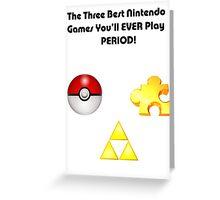 Nintendo's Best Three Games Greeting Card
