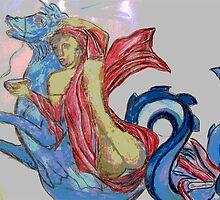 Nereide on Seahorse (c) by Genovee' s Idea by ArtGenovee