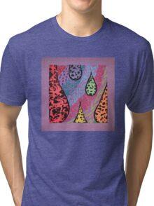 purple texture Tri-blend T-Shirt
