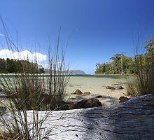 Bruny Island's Cloudy Bay Lagoon - edge by gaylene