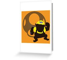 Wario (Mario) - Sunset Shores Greeting Card