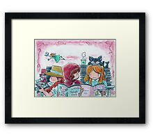 My picture book cafe Framed Print
