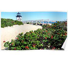 #511     Brant Point Lighthouse Poster