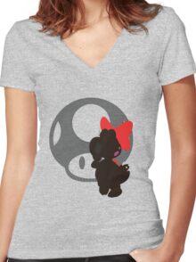 Birdo - Sunset Shores Women's Fitted V-Neck T-Shirt