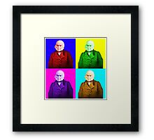John Quincy Adams Pop Art Framed Print