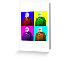 John Quincy Adams Pop Art Greeting Card