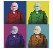 John Quincy Adams Pop Art by KHavens