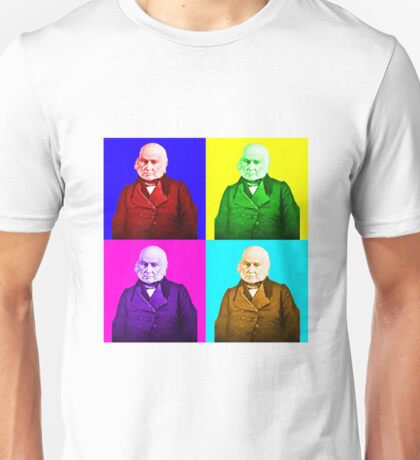 John Quincy Adams Pop Art Unisex T-Shirt