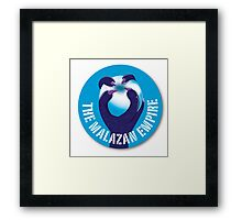 The M empire sigil of a taloned hand with white orb Framed Print