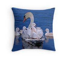 Family Outing Throw Pillow