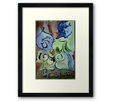 Aquarell Fantasia Framed Print