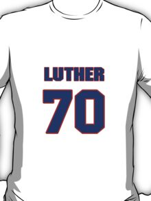 National football player Luther Henson jersey 70 T-Shirt