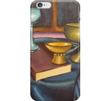 bowls and book still life iPhone Case/Skin