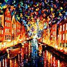 Night Copenhagen — Buy Now Link - www.etsy.com/listing/220455152 by Leonid  Afremov