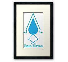 Rain Haven Emblem. Framed Print