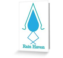 Rain Haven Emblem. Greeting Card