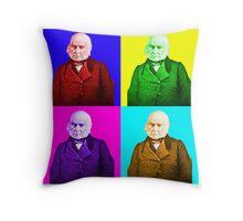 John Quincy Adams Pop Art Throw Pillow